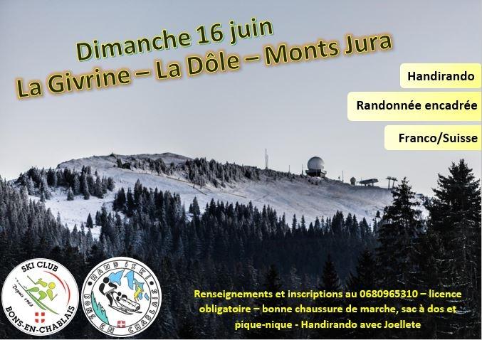 Rando et handirando à la Givrine/la Dôle (franco-suisse)