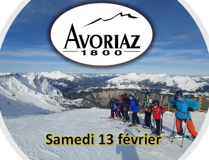 dimanche 14 février : ski jeune à Avoriaz