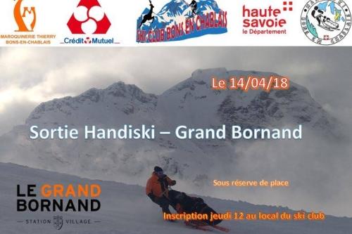 Sortie Handiski Le Grand Bornand - 14 Avril 2018