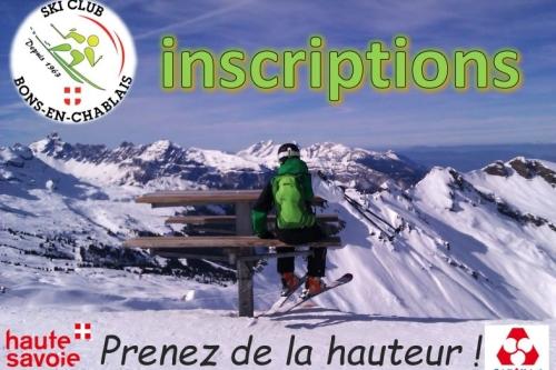 inscription au ski clubs
