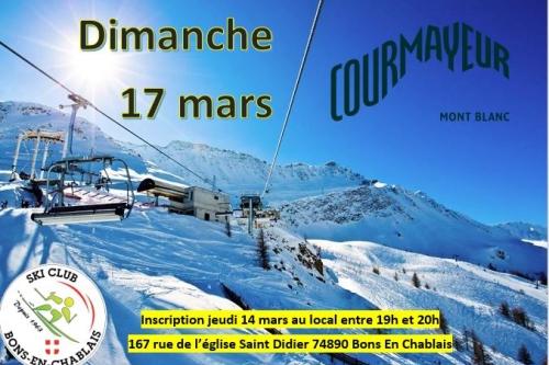 Courmayer - sortie du 17 mars