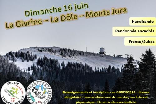Dimanche 16 juin - La dôle/La Givrine