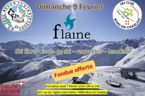 fondue à Flaine - dimanche 9 février
