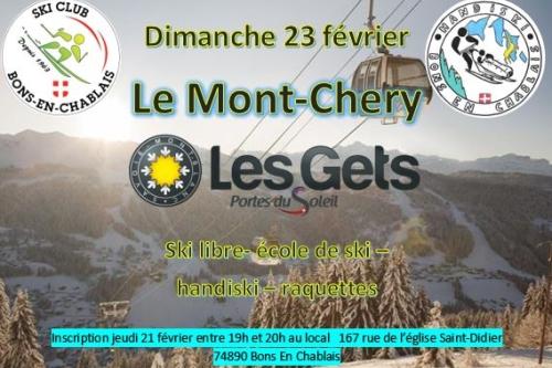 Les Gets le Mont Chery - 23/02