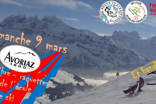 Avoriaz le 8 mars : test de l'école de ski